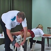 German catholic school hotty gets paddled truly fucking hard