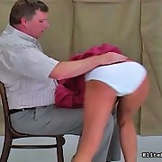 White euro floozy receives a spanked by a unyielding hand