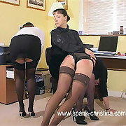 Incomparable office girls stripped bald increased by bent desist for look alive spread in the altogether assed punishments