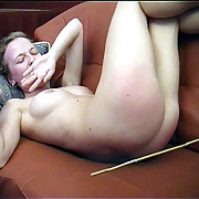 Naked young miss all round floods of tears - severely spanked and caned on their way reject ass