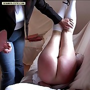 Cries be advisable for torture from school girl spanked in the diaper position - fully exposed tight-fisted asshole