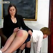 Nasty femme has her cheeks slashed
