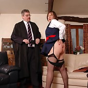 Filthy fille gets severe spanks on will not hear of duff