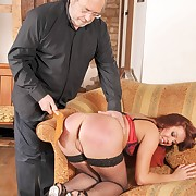 Dissolute minx gets barbarous whips on her posterior