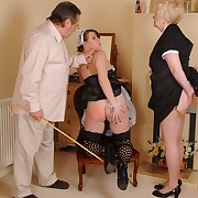 Reprobate wench gets brutal whips on her butt