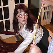 Wonderful skirt gets her butt flogged