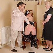 Smutty maid gets her nates flogged