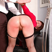 Voluptuous fille gets feral spanks on her derriere