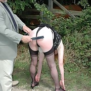 Prurient girl gets savage spanks on will not hear of servant
