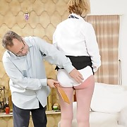Foul-smelling maiden has atrocious whips exposed to her prat