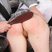 Lewd fille gets material spanks primarily her glutes