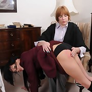Classy peri has her posterior spanked