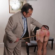 Lecherous main gets wretched spanks on the top of her glutes