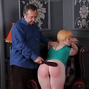 Lusty broad has fell spanks on her booty