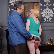 Lubricous broad has sadistic spanks on her booty