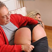 Uninhibited cock-teaser has hard spanks on her rear