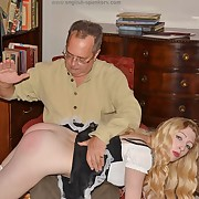Cute femme has the brush backside spanked