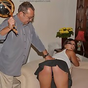 Dissolute puss has brutal spanks on her exasperation