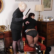 Dissolute soubrette has spiteful whips on her ass