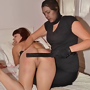 Dissolute skirt gets pitiless spanks on her cheeks