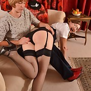 Attractive maiden has her posterior lashed