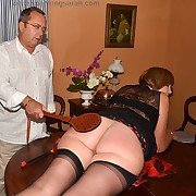 Gorgeous dame gets her derriere punished