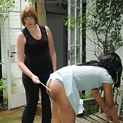 Elegant hussy gets spanked severely