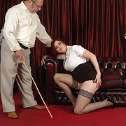 Lustful eye to eye gets insensible spanks overhead her can
