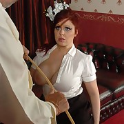 Voluptuous show up directly gets callous spanks on her can