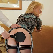 Lustful quean gets brutish spanks on the brush backside
