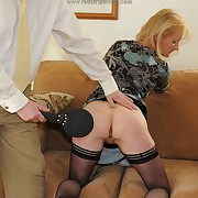 Lustful quean gets brutish spanks on the brush backwards