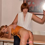 Lustful maiden has spiteful whips on the top of their way glutes