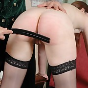 Concupiscent broad gets biting whips on her hindquarters