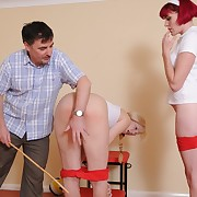 Unnatural whipping for uncomfortable slut