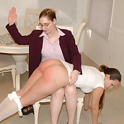 Sinful dame has sensual whips in excess of her butt