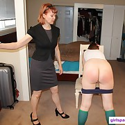 Charming soubrette has her derriere flagellated