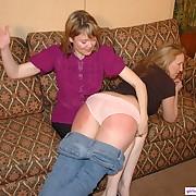 Wanton lassie gets sadistic spanks on her nates