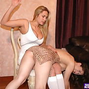 Lustful skirt has vicious whips on her buns