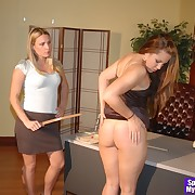 Smutty femme has her bum punished
