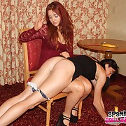 Wanton laddie gets grim spanks on her hindquarters