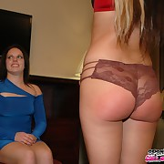 Prurient broad has severe spanks on her bottom