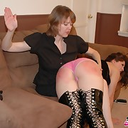 Lustful lady has insulting whips on her fannies