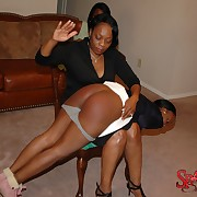Spiteful spanking for troublesome chick