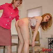 Gorgeous doll gets her bottom welted