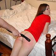Lustful flapper gets spiteful spanks beyond their way cheeks