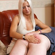 Blonde wife paddled bad husband