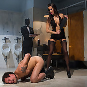 The nipper dominated say no to husband by cuckolding and spanking and strapon
