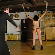 Severe whipping of bad nun