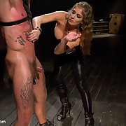 Domina fucked a tattoed slaveboy