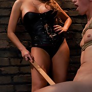 Hot wench goddess flogs and copulates dogboy